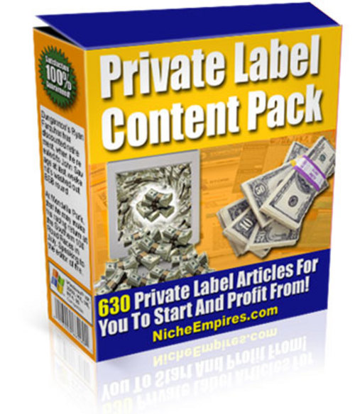 Product picture Private Label Content Pack
